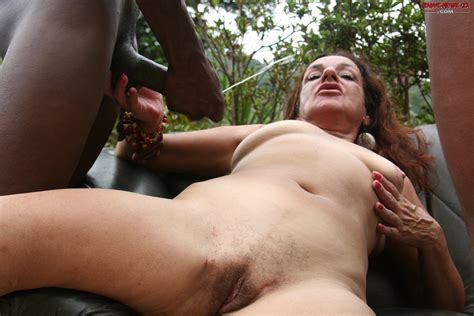 hot interracial mature threesome
