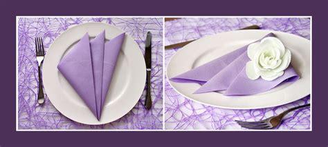 Servietten Falten Fächer by Servietten Falten Einfacher F 228 Cher Lila Servietten