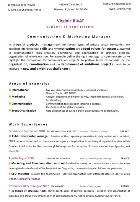 Business Communication Resume by Personal Statement Exles Graduate School