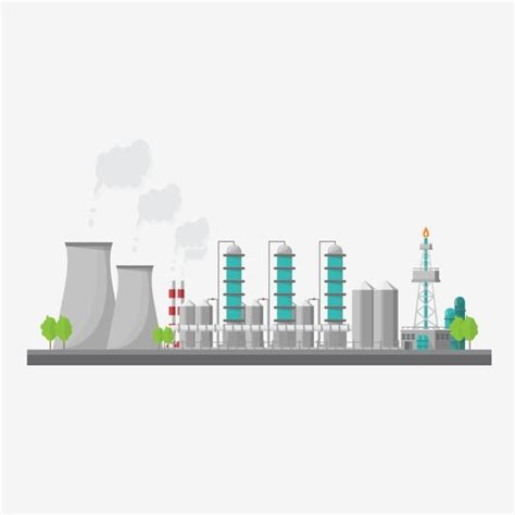 chemical plant png vector psd  clipart