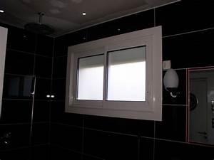 fenetres coulissantes en aluminium blanc et double vitrage With porte d entrée alu avec fenetre salle de bain aluminium