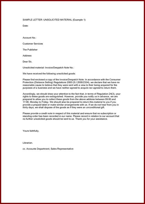 unsolicited cover letter exle the best letter sle