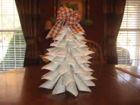 paper cone christmas tree craft go green and use recycled paper