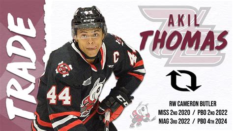 Petes Acquire Centre Akil Thomas from the Niagara IceDogs ...
