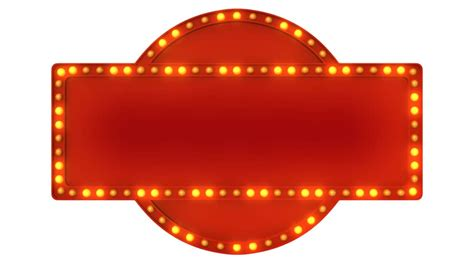 Blank Billboard Clip Art Red red marquee light board sign retro  white background 852 x 480 · jpeg