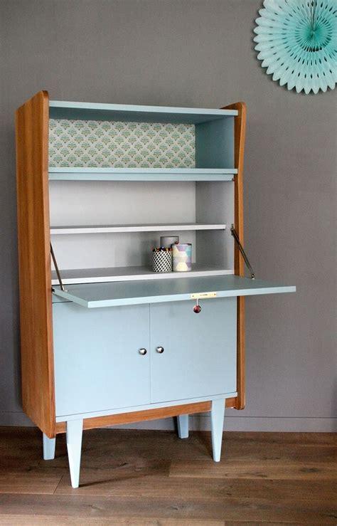 meuble bureau secretaire secrétaire vintage octave rénové et relooké par les jolis