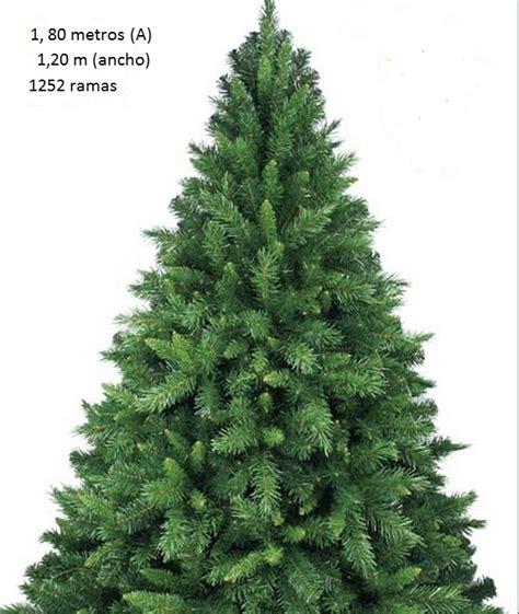 abeto de navidad artificial de 1 80 metros de altura