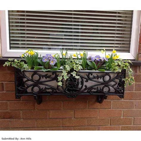 outdoor wooden box windowsill stratford planter flower