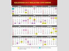 Kalendar 2017 & Cuti Umum Malaysia Arnamee blogspot