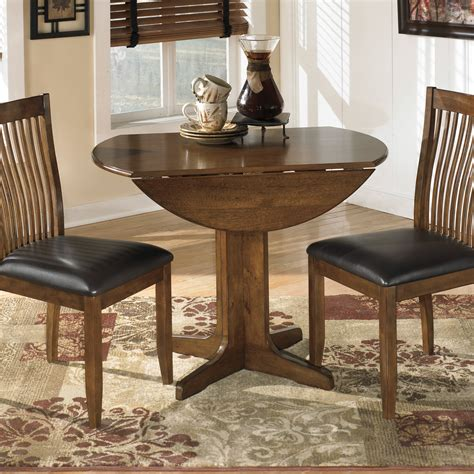 small round drop leaf dining table with wooden base