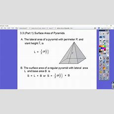Surface Area Of Pyramids  Module 33 (part 1) Youtube