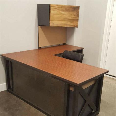 industrial cl l design l shaped industrial office desk green clean designs