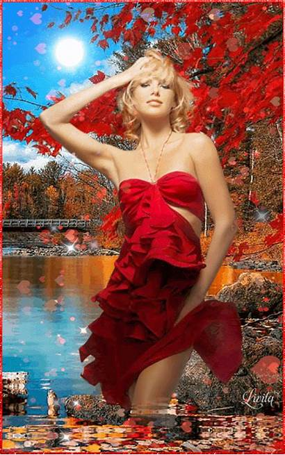 Strapless Fall Dresses Formal Gifs Autumn Nature