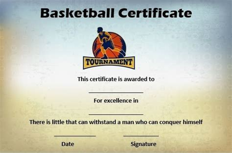 basketball mythical  certificate basketball certificate