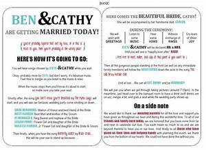 27 free wedding program templates you39ll love With free wedding brochure templates download