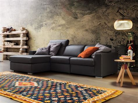 Divano Moderno A 2 Posti Maxi Con Relax E Chaise