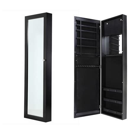 armoire a bijoux homegear wall mounted jewellery cabinet length bedroom mirror ebay