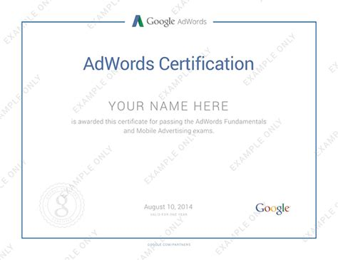 Adwords Certification by Adwords Certification For Mobile Advertising Expands