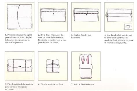 pliage serviette pour mettre couvert atlub