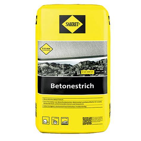 sakret beton estrich sakret betonestrich 40 kg bauhaus
