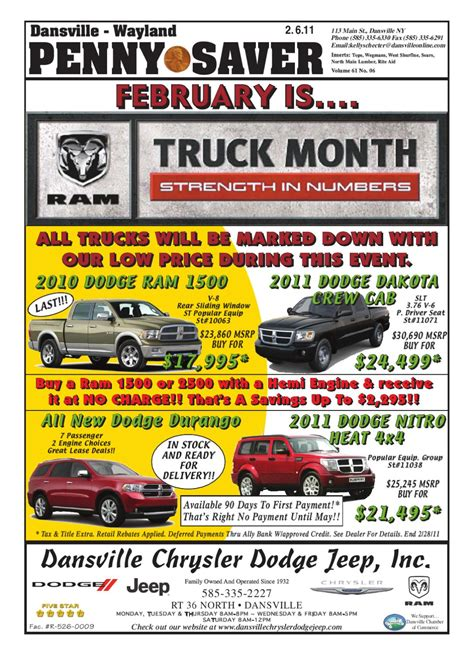 February 6, 2011 by Dansville Wayland PennySaver   Issuu