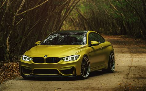 Bmw M4 Coupe Wallpapers by Wallpapers Bmw Gold M4 Coupe Cars Front 3840x2400