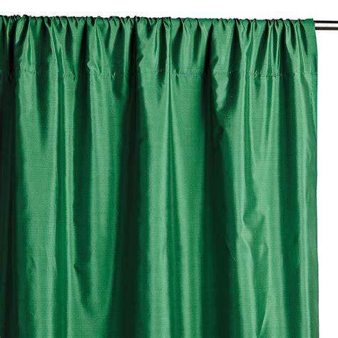 emerald green curtains emerald green faux silk taffeta curtain panel