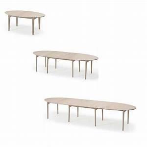 Table 16 Personnes : table de salle manger ovale scandinave en bois avec allonges sm78 4 ~ Teatrodelosmanantiales.com Idées de Décoration