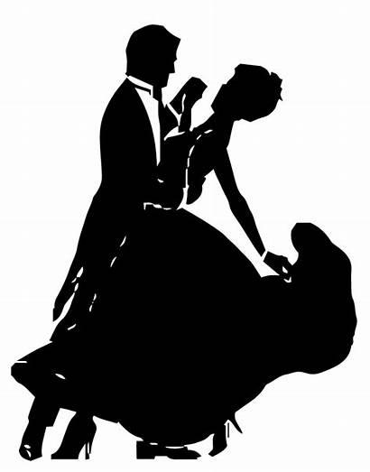 Dancing Couple Silhouette Ballroom Dance Clip Clipart