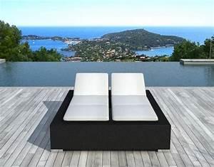 Chaise Longue 2 Places : chaise longue atylia chaise longue 2 places r sine ventes pas ~ Teatrodelosmanantiales.com Idées de Décoration