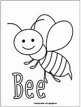Coloring Pages Bee Bugs Preschool Little Bug Insect Easy Insects Sheets Activities Toddler Spring Craft Fun Printable Bees Easypeasyandfun Books sketch template
