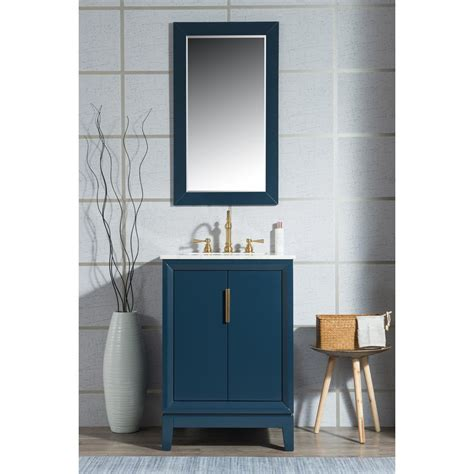 blue vanity top water creation elizabeth collection 24 in bath vanity in