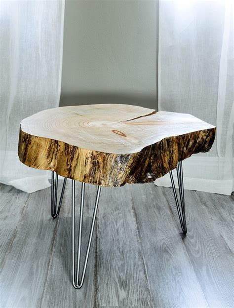 table basse en tronc d arbre le meuble diy qui cache la for 234 t obsigen