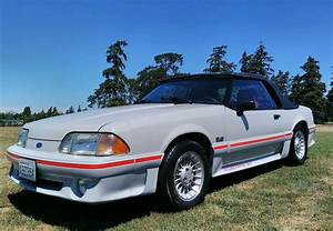 1989 Ford Mustang Cobra GT Mustang Convertible 5.0 V8 Foxbody - Ultra Rare Dove Gray Color with ...
