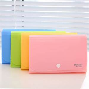 plastic candy color a6 file folder small document bags With plastic document folder