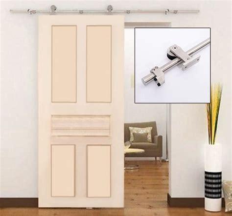 Sliding Closet Door Kit by 6 6ft Steel Interior Sliding Wood Barn Door Track Kit