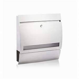 buzon stainless steel alonso wall mount letterbox With wall mounted letter box