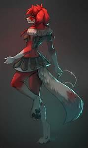 female fox anthro