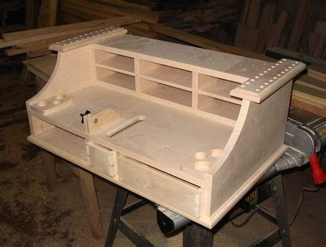 Fly Tying Table Woodworking Plans by Fly Tying Bench With A Trash Bin Fly Tying Station