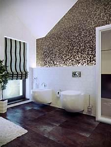 revetement mural salle de bain en 20 idees With revetement carrelage salle de bain