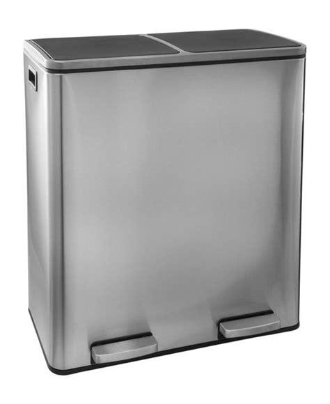 afvalbak keuken 60 liter bol steeldesign duo maro rvs prullenbak voor