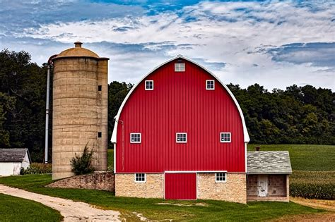 Barn Images Free by Wisconsin Barn Silo 183 Free Photo On Pixabay