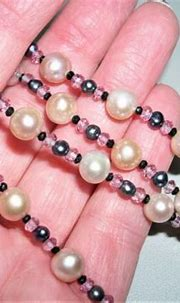 Artisan Pink FW Pearl~Pink Amy~Spinel~Blk Pearl Bead ...