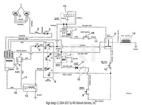 Electrical Wiring Diagram Light Deck by Ariens 936305 000301 1440g 14hp B S Gear 40