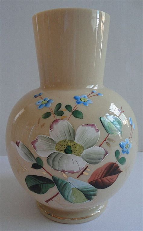Antique Coloured Glass Vases by Bristol Glass Vase Warm Colored Large Painted