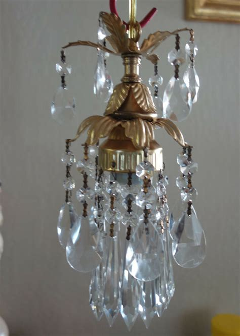 Small Hanging Chandelier 1o3 small hanging l chandelier prism brass