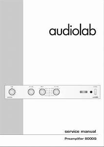 Audiolab 8000q Original Service Manual In Pdf