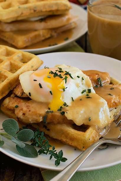 Turkey Waffles Gravy Savory Herbed Egg Recipe