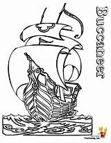 Pirate Ship Coloring Pages Outline Pirates Ships Boys Boat Printable Buccaneer Boats Skulls Colouring Hard Yescoloring Cartoon Seas Children Collections sketch template