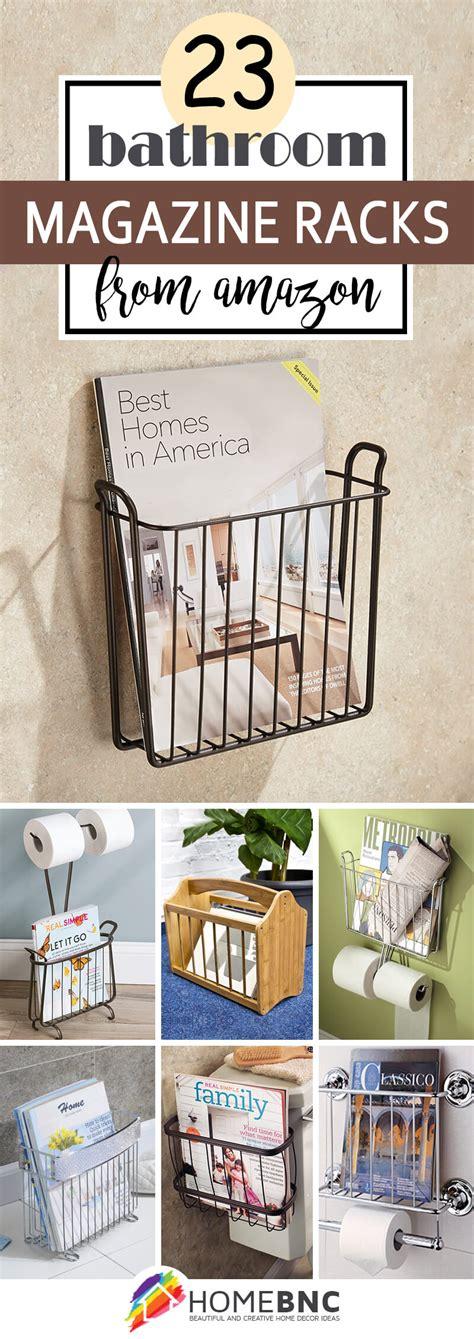 bathroom magazine rack ideas  save space